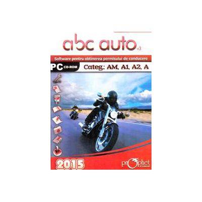 CD, Software pentru obtinerea permisului de conducere, ABC Auto v. 3. 0 - Categoriile AM, A1, A2, A - Actualizat 2015