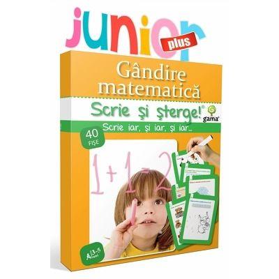 Gandire matematica - scrie si sterge (3 - 5 ani)