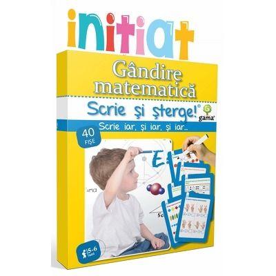 Gandire matematica - scrie si sterge - Varsta recomandata: 5 - 7 ani