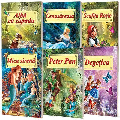 Pachet 6 carti cu povesti ilustrate, format A4