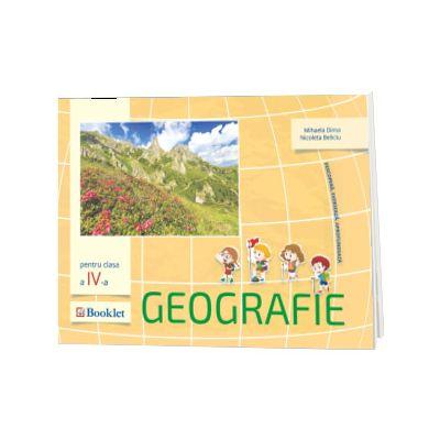 Geografie. Auxiliar pentru clasa a IV-a, Mihaela Dima, BOOKLET